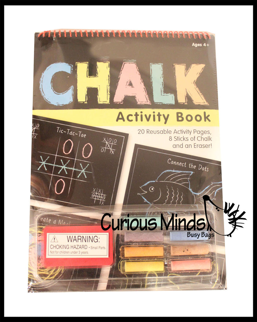 CLEARANCE SALE - Chalk Activity Pad - Travel Activity - Busy Bag Games