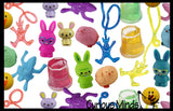 Set of 132 Bunny Rabbit & Chick Theme Easter Egg Filler Set - Small Toy Prize Assortment Egg Hunt (11 DOZEN)
