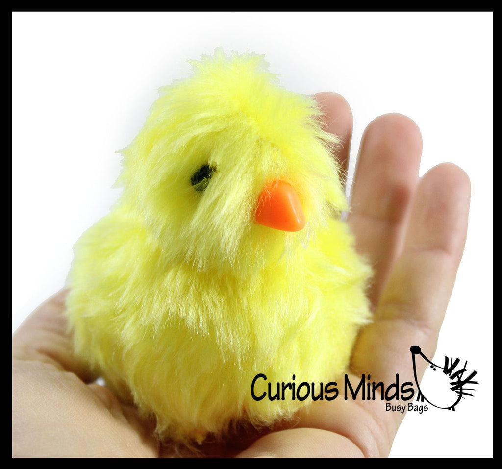 Chirping Chicks - Fuzzy Chick that Chirps in Your Hand - Easter - Chicken Lover Toy Gift