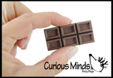 Cute Chocolate Candy Bar Erasers - Scented Novelty and Functional Adorable Eraser Novelty Prize, School Classroom Supply