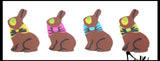 Cute Tiny Chocolate Bunny Erasers - Easter Egg Filler Prize