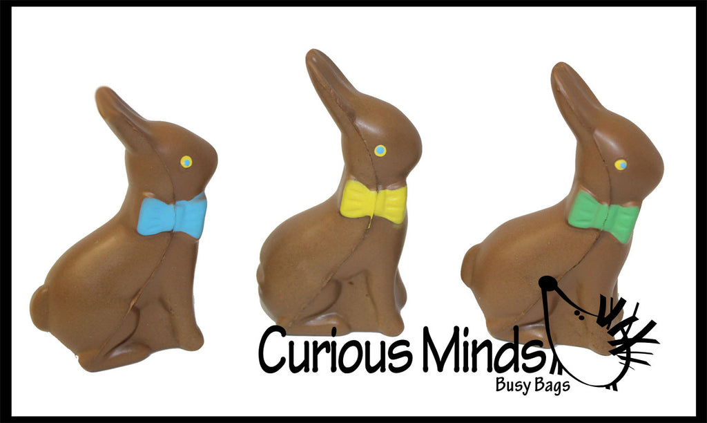 CLEARANCE SALE - Chocolate Bunny Stress Ball  -  Sensory, Stress, Fidget Toy - Easter