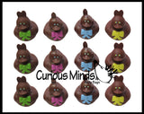 Chocolate Duck Figurines -  Sensory, Stress, Fidget Toy - Easter