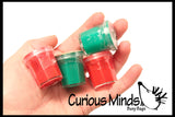 TINY Christmas Holiday Slime/Putty - Party Favor - Prize - Small Gift - Santa/Elf/Reindeer/Snowman