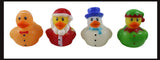 48 Christmas Vinyl Characters and Rubber Duckies - Santa, Gingerbread Man, Snowman, and Elf Ducks and Multiple Christmas Themed Characters Cute Holiday Party Favor Decoration Gifts (4 Dozen)