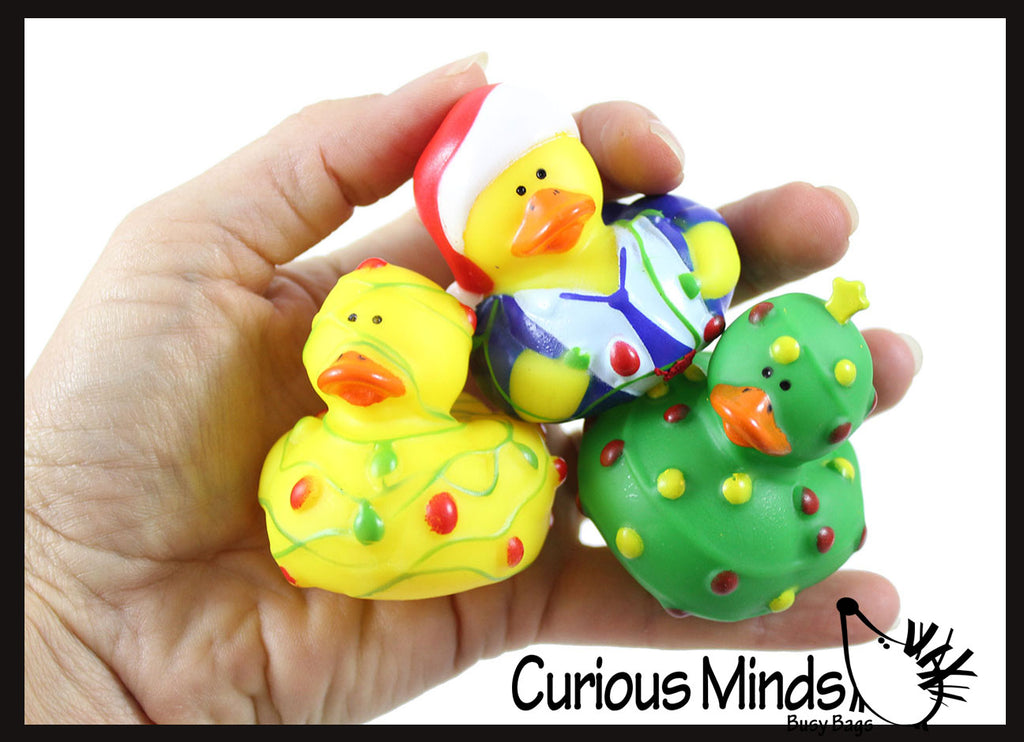 Christmas Lights Rubber Duckies - Ducks - Cute Holiday Party Favor Decoration Gifts