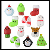 Christmas Winter Mochi Squishy Animals - Kawaii -  Cute Individually Wrapped Toys - Sensory, Stress, Fidget Party Favor Toy