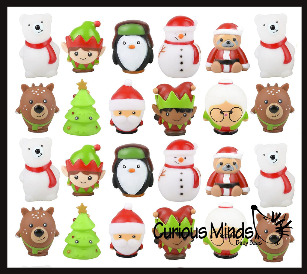 Cute Christmas Themed Vinyl Characters - Fun Party Favor Toy - Christmas Winter Decoration Gift