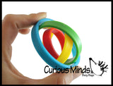 Spinning Rotating Rings Fidget Toy - Soothing Sensory Moving Fidget for Classroom or Office