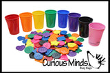 Color Sorting Cups and Buttons to Sort
