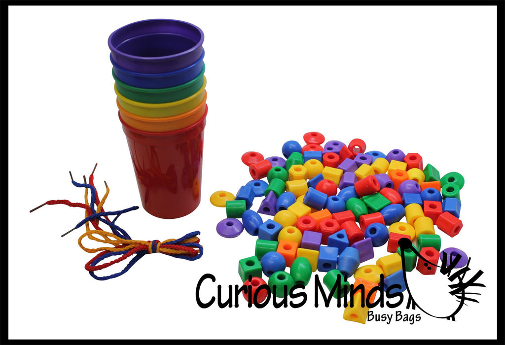 Color Sorting Cups and Beads to Sort