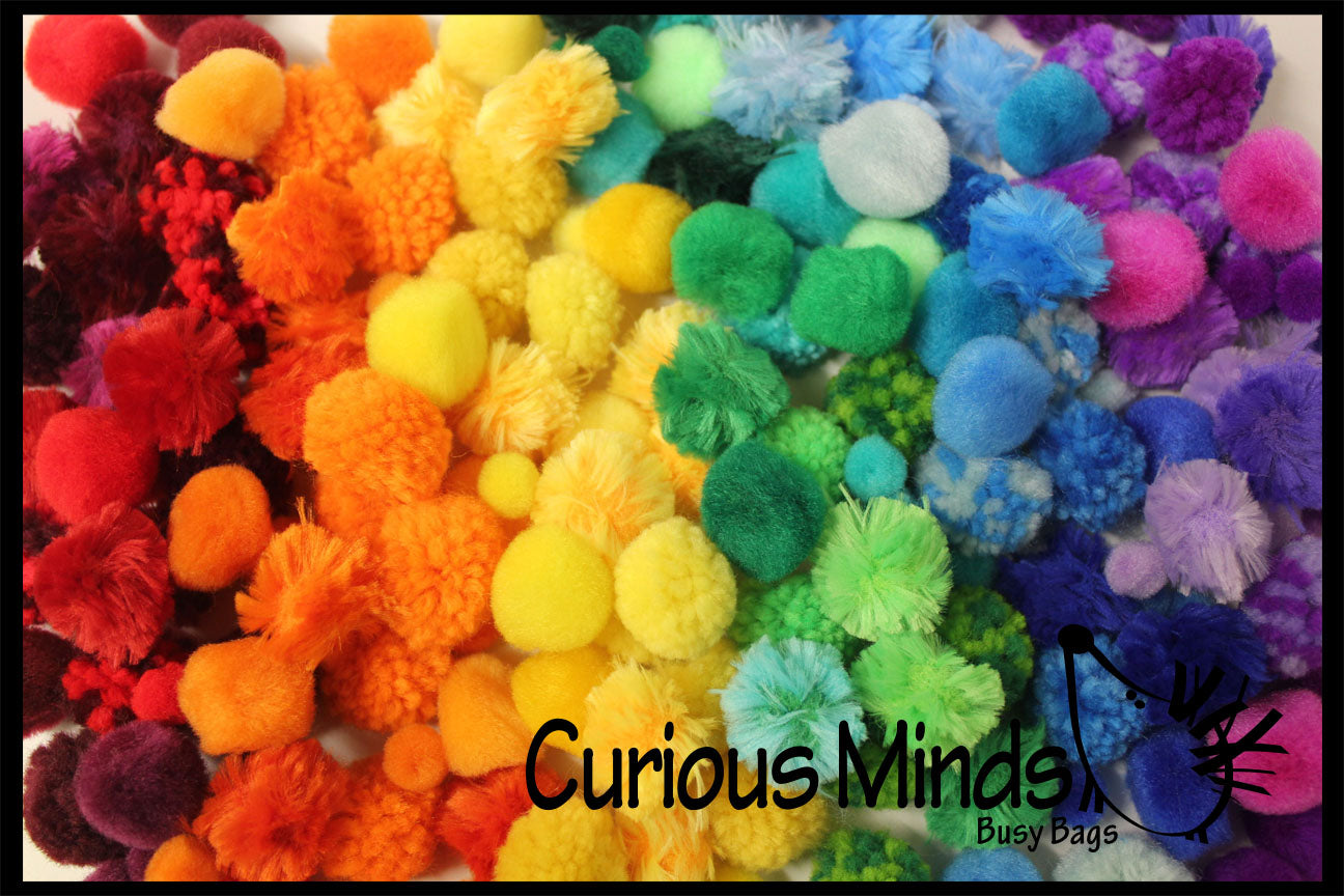Color Sorting Pom Poms - Color Scale Variations