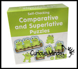 CLEARANCE - SALE - Comparative and Superlative Word Puzzle Game - Language Arts Teacher Supply