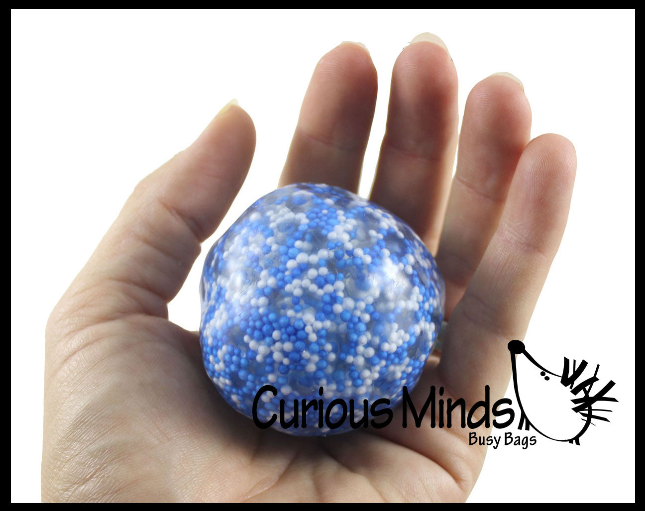 Squishy Gooey Shape-able Squish ot 1 Large Confetti Bead Mold-able Stress Ball