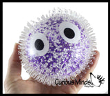 Air-Filled Confetti Ball with Eyes - Unique Texture Ball with Styrofoam Balls Inside - Stress Sensory Toy