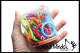 Small Connectors Building Toy - Snap Together Sticks - Open Ended Building Toy