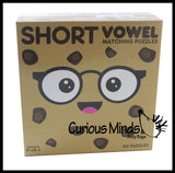 Short Vowel Cookies and Milk Puzzle - Language Arts Teacher Supply