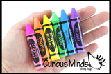 CLEARANCE SALE - Crayon Erasers - Novelty and Functional Adorable Eraser Novelty Prize, School Classroom Supply, Art Teacher Creative