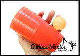 Fun Cups and Ball Game - Bounce Target Shooting Game