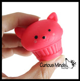 Cupcake Animal Mochi Squishy Animals - Surprise Blind Bag Kawaii -  Cute Individually Wrapped Toys - Sensory, Stress, Fidget Party Favor Toy