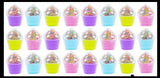 Cupcake Slime - Fun Putty in Sweet Treat Cup Cake Desert Container - Putty - Goo - Sprinkle Mix-Ins