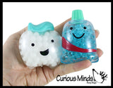 Dental Water Bead Figures - Tooth and Toothpaste - Dentist Treasure Prize Gift - Stress Ball