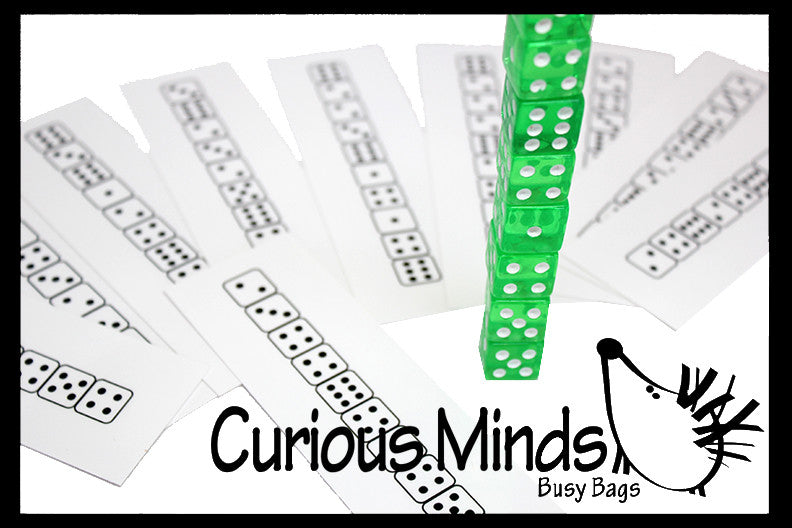 Busy Bag:  Dice Patterns - Number Learning Activity / Puzzle