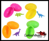 Dinosaur Egg Party Favors - Surprise Egg with Mystery Dinosaur - Goody Bag - Birthday - Easter Egg Hunt