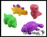 Dinosaur Mochi Squishy Animals - Kawaii -  Cute Individually Wrapped Dino Toys - Sensory, Stress, Fidget Party Favor Toy