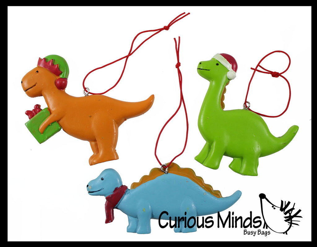 Cute Dinosaur Animal Christmas Ornaments for Tree -  Dino Christmas Holiday Decorations