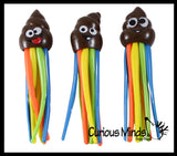Poop Pool Dive Sticks - Pool, Beach and Bath Toy Dives - Poo Rainbow Emoji