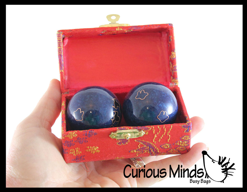 Chinese Health Harmony Baoding Balls - Stress Relief Fidget Balls - Roll in Hand and Makes Sounds