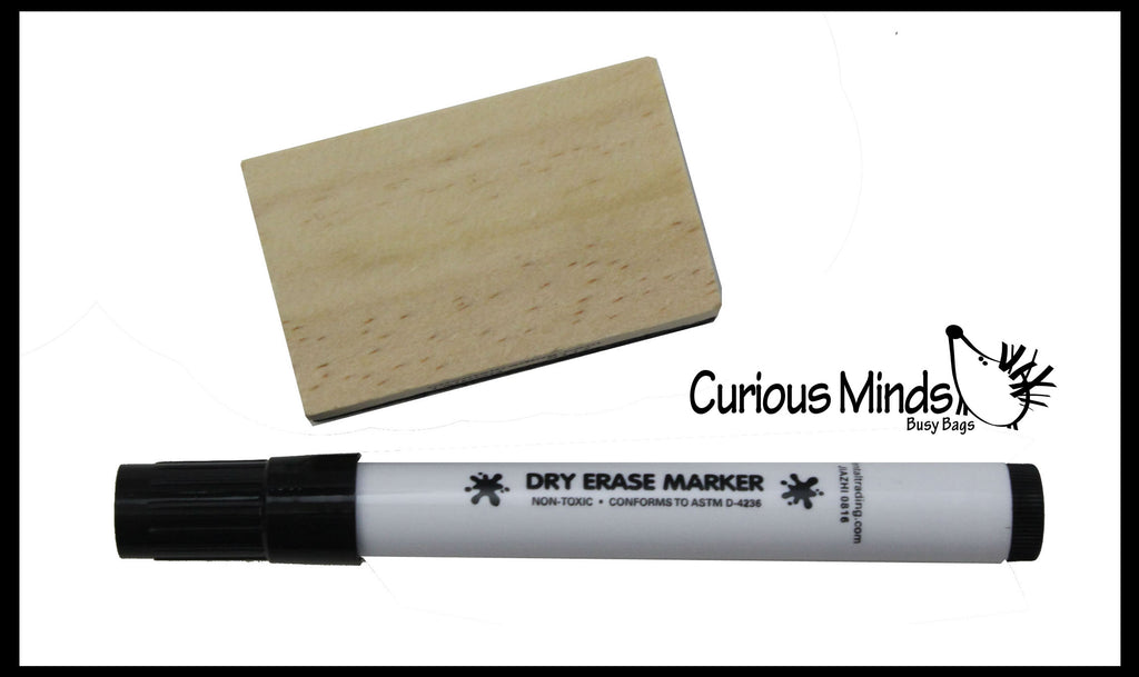 Dry Erase Marker and Eraser