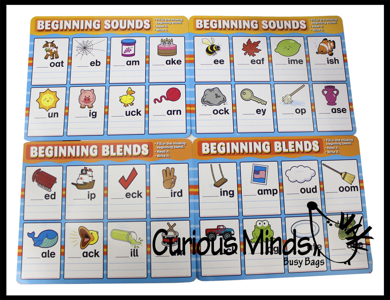 Phonics Dry Erase Practice Pages - Language Arts Teacher Supply Centers
