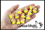 144 (12 Dozen) Duck Mini Erasers - Novelty and Functional Adorable Eraser Novelty Treasure Prize, School Classroom Supply, Math Counters - Sorting - Party Favor, Rubber Duckies Easter