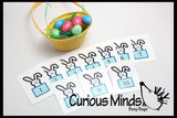 CLEARANCE - SALE - EASTER Busy Bag - Counting Eggs or Bunnies - Math Busy Bags Activity