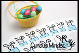 SALE - EASTER Busy Bag - Counting Eggs or Bunnies - Math Busy Bags Activity
