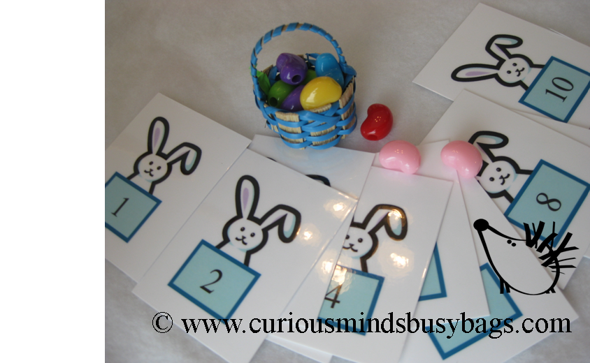 CLEARANCE SALE - Easter Basket Filler Busy Bag - Easter Number Activity - Filling Baskets