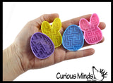 Easter Pill Maze Toys - Bunny and Egg Shaped - Easter Themed Small Toys - Easter Egg Filler Set - Small Toy Prize Assortment Egg Hunt