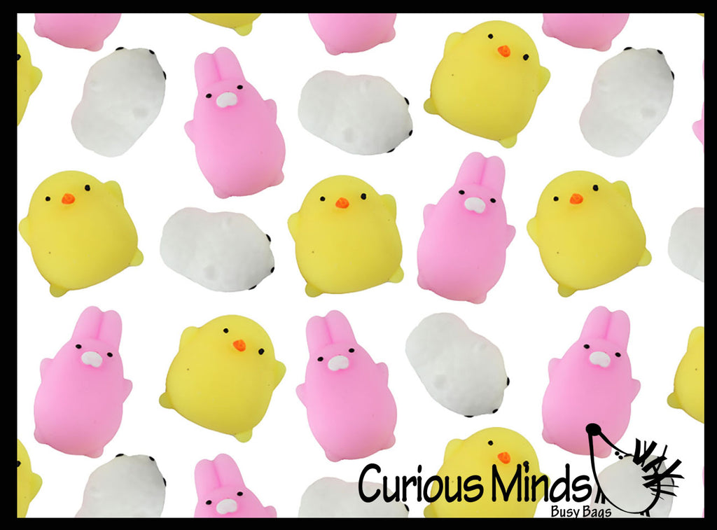Easter Chick Bunny Lamb Themed Mochi Squishy Animals - Kawaii -  Sensory, Stress, Fidget Party Favor Toy