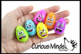Fun Emoji Face Eggs Bouncy Balls - Cute Easter Egg Filler Prize