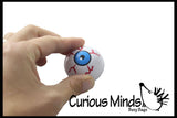 Eyeball Pull Back Racer Toy - Moving Eye Car - Fun Novelty Toy - Party Favors - Anatomy Ophthalmologist, Halloween