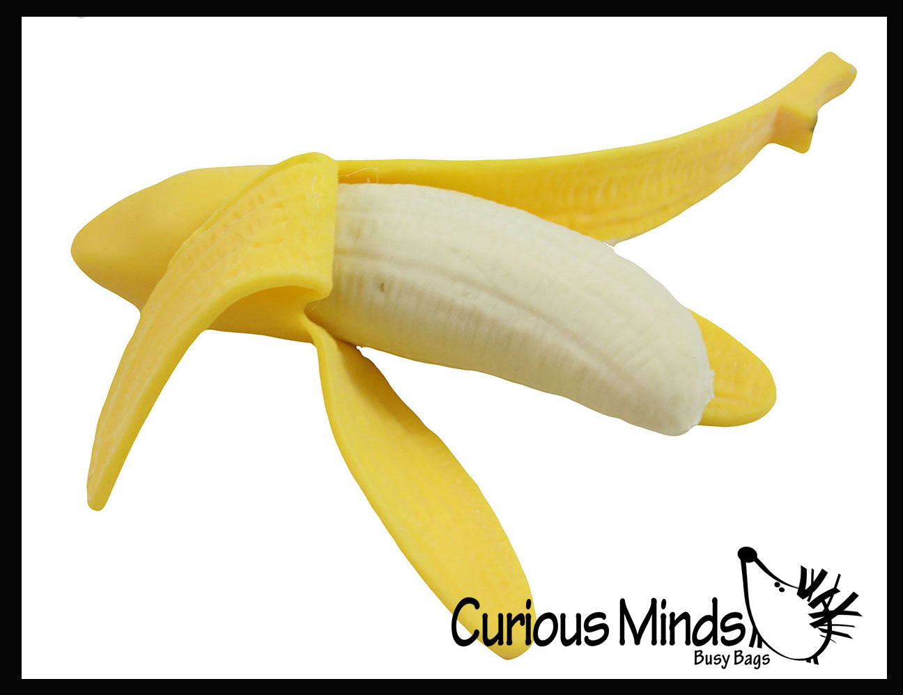 Realistic Stretchy Banana - Sensory, Stress, Squeeze Fidget Toy ADHD Special Needs Soothing
