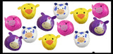 4 Cute Farm Animal Kick Balls - Sack Footbag Game Balls