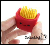 Cute Fast Food Figurines with Spiky Porcupine Wooly Hedge Body - Pizza, Burger, Taco, Fries - Small Novelty Toy Prize Assortment for Birthday Party Gifts