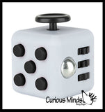 Fidget Cube Block  - Spinning Hand Fidget - Anxiety ADHD Spinner - Classroom and Office