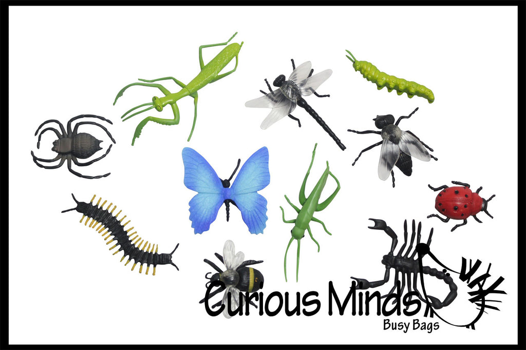 Miniature Insect Figurines Replicas