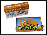 First Words  Puzzle - Language Arts Teacher Supply - CVC Words