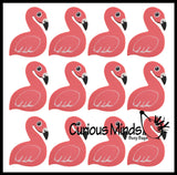Large Flamingo Pencil Top Erasers - Novelty and Functional Adorable Eraser Novelty Treasure Prize, School Classroom Supply, Math Counters - Sorting - Party Favor, Pencil Topper