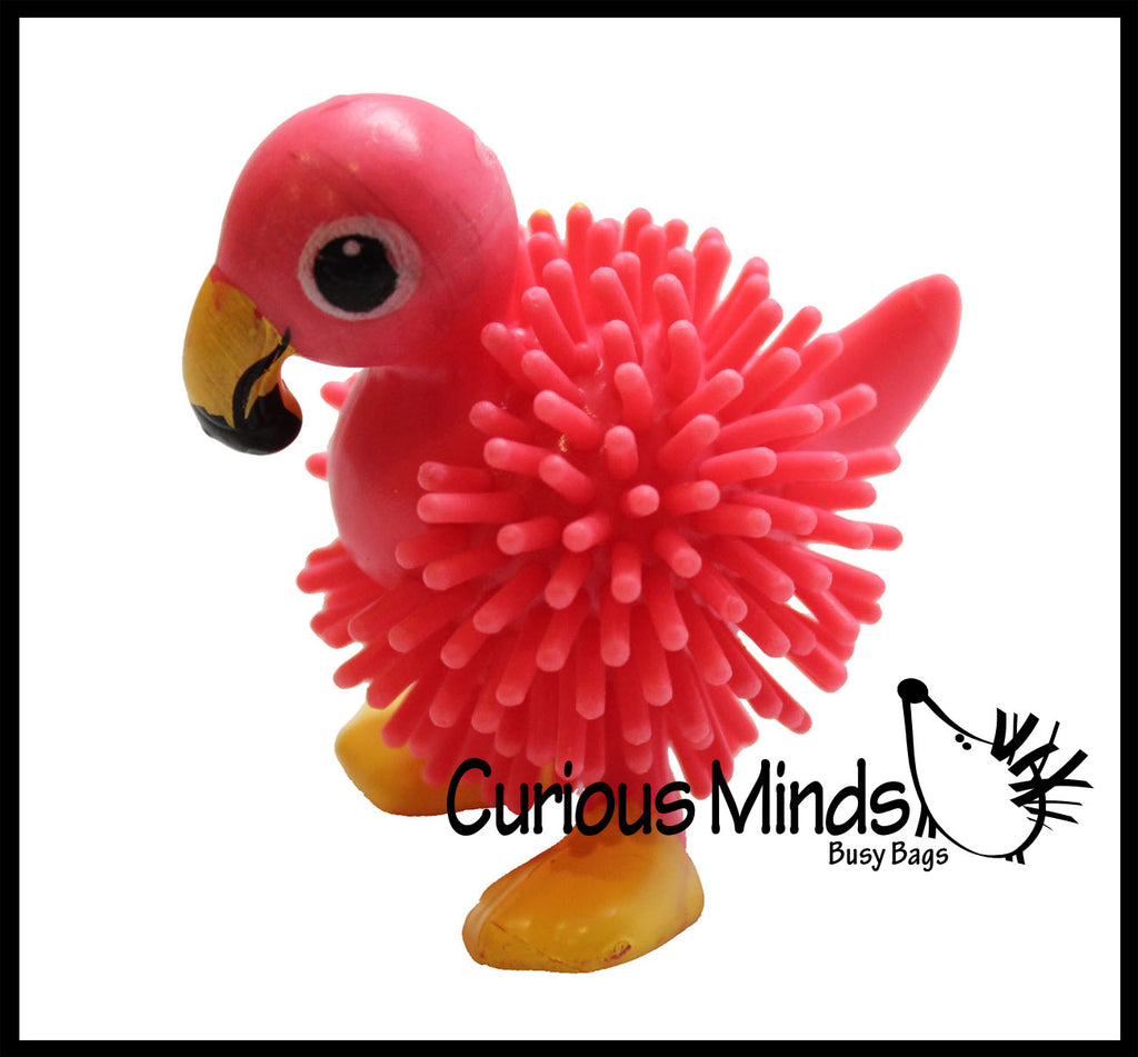 Small Flamingo Hedge Balls -  Wooly Porcupine Balls - Sensory Novelty Toy
